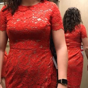 Red formal Vince Camuto dress